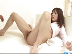 Ageha kinashita sleazy japanese fucking with two hunks