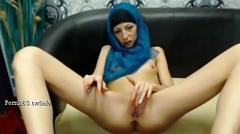 Petite arab girl teasing on cam