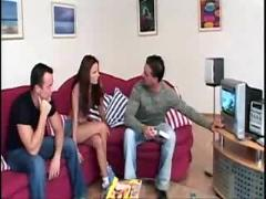 Claudia rossi in a teen video with 2 men by kikinho10