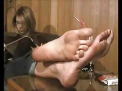 Sexy foot fetishsoles hot milf