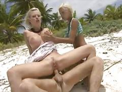 Boroka bolls and tarra white have fun on beach