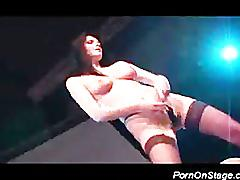 Two strippers teasing a horny guy from public hard