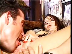 Nasty brunette slut loves a hard fuck