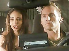 Alexis love does a ride in taxi
