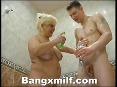 Busty milf fucked hard in bath tub