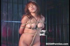 Asian brunette whore reached hell as she