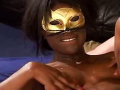 Mysterious masked beauty fucked in all holes