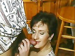 Cougar fucked on a bar
