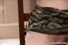 Horny sexy latina gets pussy