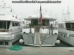 Hard porn movie in a yacht