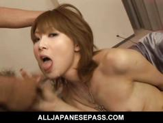 Rika sakurai gets lots of vibrator all over her body...