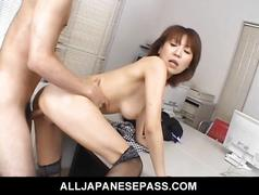 Jun kusanagi lovely asian office girl gets fucked in...