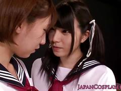 Kiyosumi high cosplay goes lesbian sex fun