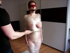 Chubby redhead video18 saggy tits wrapped and tortured