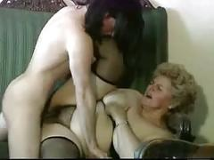 Chubby blonde granny with hairy pussy