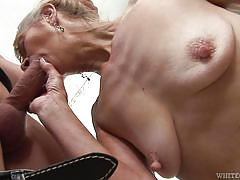 Slutty granny desires a hard dick