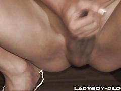 Big black dildo makes her horny