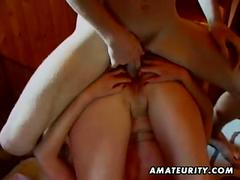 Hot amateur girlfriend anal fuck with blowjob and cum