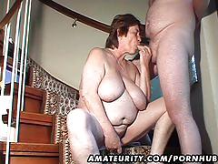 Chubby amateur wife toys and sucks and gets fucked