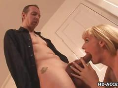 Blonde milf's insane anal sex
