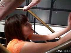 Lovely slut karoi houjou gives handjob