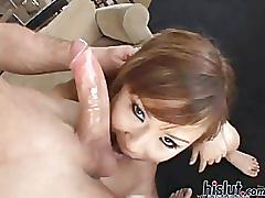 asian, babe, young, blowjob, natural-tits, perky-tits, ball-licking, riding, tattoo, couch, doggystyle, cumshot, swallow, indonesian