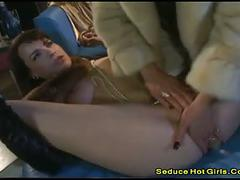 Redhead babes put anything on their pussy to get pleasure2