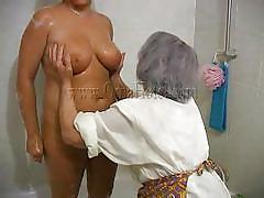 Old sluts in a small bathtub