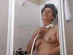 granny, bathroom, solo, saggy tits, masturbation, shower, wet, unshaved pussy, gray hair, oma hotel, old nanny, rosa x, rosa x, oma hotel, oma cash