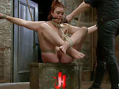 milf, bdsm, hanging, vibrator, fingering, tied up, wet pussy, ball gag, latex gloves, hogtied, kink, jodi taylor, jodi taylor, hogtied, kinky dollars
