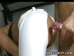 Hot amateur girlfriend homemade anal action