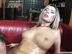 Daria glower gets her melons glazed