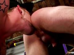 Adam fingering his slave's ass