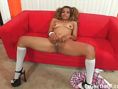 Mercedez santos sucks and fucks a big black cock.