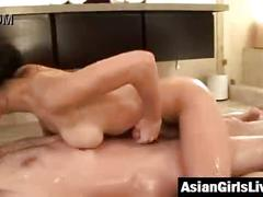 Bathtub fucking with asian wife