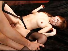 Young pretty japanese girl's hot sexy cunt creampied