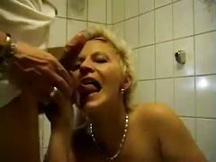 Mother in bathroom