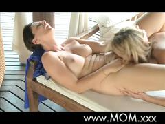 Mom mature lesbian loves a strong orgasm