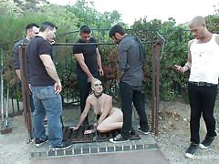 Chained slut tortured