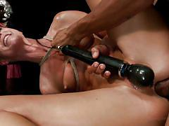Mommy experiencing fun that bondage gives