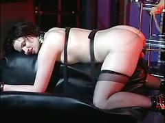 Horny mistress enjoying with her slave girl