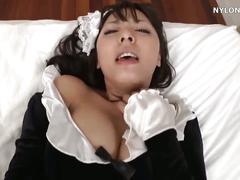Japanese pantyhose maid sex nylon fuck