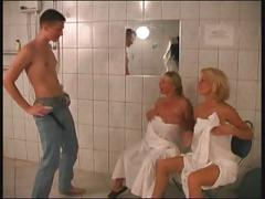 Russian mom 22 blonde mature with a young man