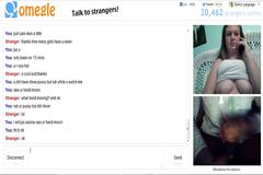 Omegle 92 (women watches me while rubbing and on phone)
