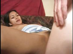 Perfect young anal asian sucks cock and gets a creampie in her ass