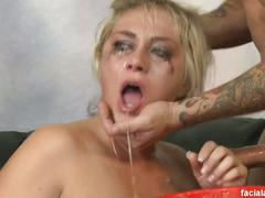 blonde, blowjob, hd, deepthroat, face fucking, gagging, sloppy blowjob