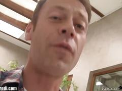 18 year old russian sucks rocco siffredi's cock