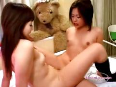 2 asian girls with tiny tits licking fingering...