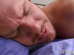 Hot full treatment massage at the gay spa.