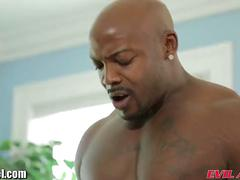 Evilangel big black cock fucks brunette in ass